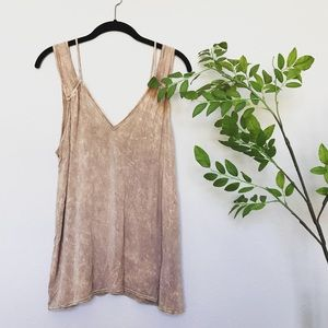 Project Social T Bleach Distressed Tank Top